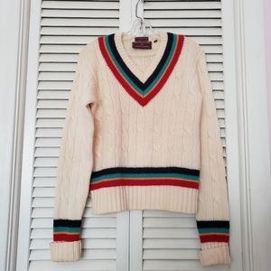 Vintage 100% Wool Chaps Ralph Lauren VNeck Sweater